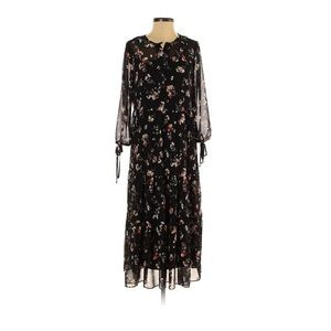 Madewell Sheer button front tier midi dress small